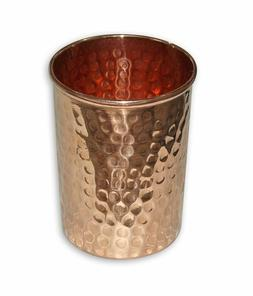 100% Pure Copper Hammered Glass Set Ayurvedic Yoga Benificia