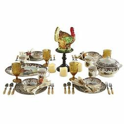 BrylaneHome 16-Pc. Turkey Dinnerware Set , Multi