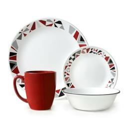 16 piece dinnerware set lightweight dinning plates