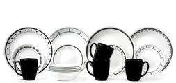 16 piece dinnerware set service for 4