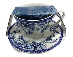 222 Fifth Adelaide Blue Fine China Cup and Saucer