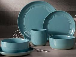 32-Piece Stoneware Dinnerware Set Blue Ridge Service for 8