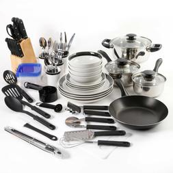 83 Pcs Kitchen Combo Set Home Essential Total Cookware Dinne