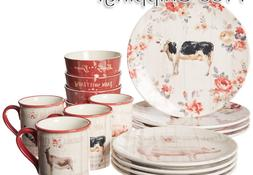Certified International 87526 Farmhouse 16 pc Dinnerware Set