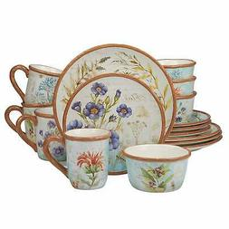 Certified International 89013 Herb Blossoms Dinnerware Table