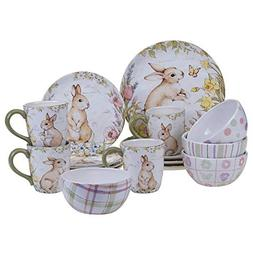 Certified International 89125 Bunny Patch 16 pc. Dinnerware
