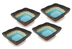 """Happy Sales Green Kosui 2-3/4"""" Square Soy Sauce/Dipping Bowl"""