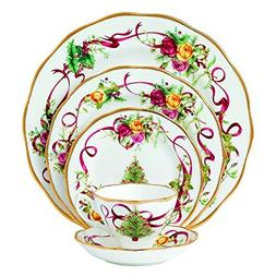 Royal Albert Old Country Roses Christmas Tree Place Setting,