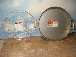 BETTER HOMES & GARDENS GALVANIZED TRAY & ACRYLIC CHIP 'N DIP