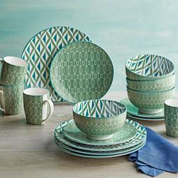 Better Homes and Gardens Piers Green Mix and Match 16 Piece