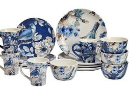 Certified International Blue Indigold 16-piece Ceramic Dinne