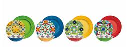 Bright Colorful Dinnerware Set Outdoor Melamine Service for