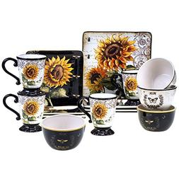 Certified International 89093 French Sunflower 16 pc. Dinner