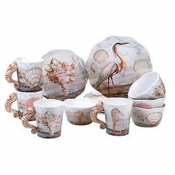 Certified International 89120 Coastal View 16 pc. Dinnerware