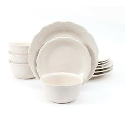 The Pioneer Woman Cowgirl Lace 12-Piece Dinnerware Set