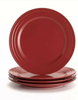 Rachael Ray Dinnerware Double Ridge Dinner Plate Set, 4-Piec