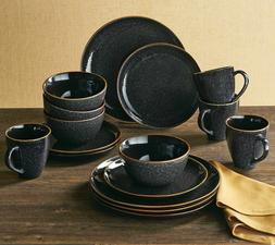 Set Dinnerware 16piece Dishes Plate Mug Vintage Classic Mode