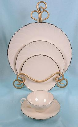 dinnerware weatherly wavey ivory and silver 5