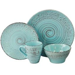 Distressed Dinnerware Set Beach Theme Dishes Everyday Casual