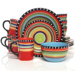 Doumet 16 Piece Dinnerware Set, Service for 4