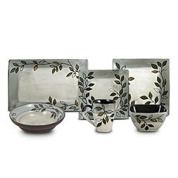 Pfaltzgraff Rustic Leaves Dinnerware Set, Service for 8 with
