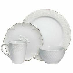 Pfaltzgraff French Lace White 32 Piece Dinnerware Set