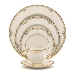 Lenox Republic Gold-Banded 5-Piece Place Setting, Service fo