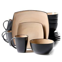 Gibson Home Amalfi 16-Piece Dinnerware Set in Taupe by Gibso