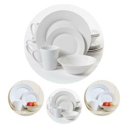 Gibson Home Noble Court 16 Piece Porcelain Dinnerware Set Pl