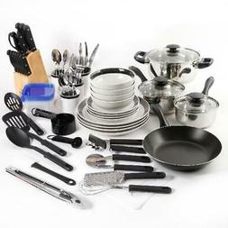 Kitchen Combo Set Home Essential Total Cookware Dinnerware P