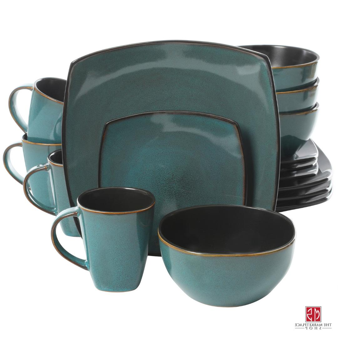 16-Piece Dinnerware Set Stoneware Kitchen Mugs Dishes New