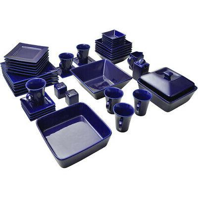 45-Piece For 6 Dinner Plates Dinning Bowls Dishes