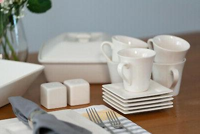 45-Piece Square For Plates Dinning