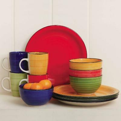 Color Vibes Set Microwave & Dishwasher Safe Home Stoneware