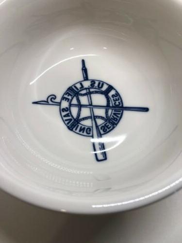 TWO DD Lines Lifesaving Services Blue Dinnerware Piece