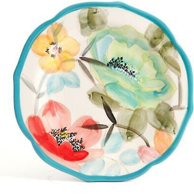 The Bloom 12-Piece Dinnerware Set Service for Turquoise
