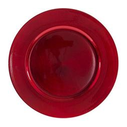 """10 Strawberry Street 13""""Lacquer Round Charger Plate, Set of"""