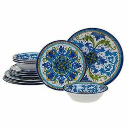 Certified International Luca Melamine 12 pc Dinnerware Set