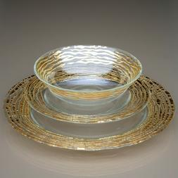 MAGARA 12 pcs. Gold Dinnerware Set