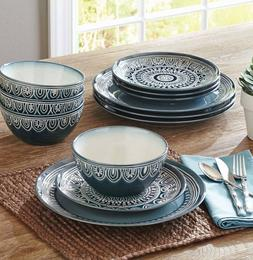 Better Homes and Gardens Medallion 12-Piece Dinnerware Set T