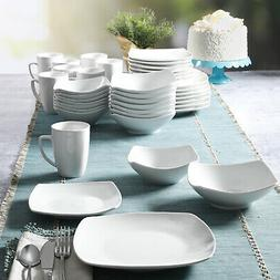 NEW Gibson Home Everyday Square Expanded 40-Piece Dinnerware