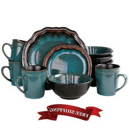 Kitchen Dishes Set Dinnerware Turquoise Oval Plate Modern Di