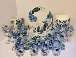 Paisley Stoneware  Dinnerware Collection    Variety To Choos