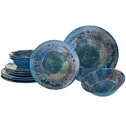 Certified International Radiance Teal Melamine 12 pc Dinnerw