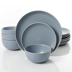Gibson Home 114389.12RM Rockaway 12-Piece Dinnerware Set Ser