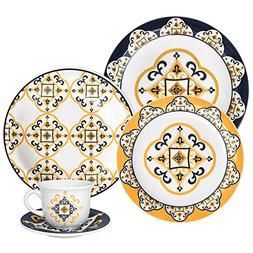 Oxford 20 Piece San Luis Collection Daily Dinnerware Set