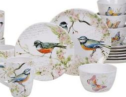 Certified International Spring Meadows 16-piece Birds Dinner