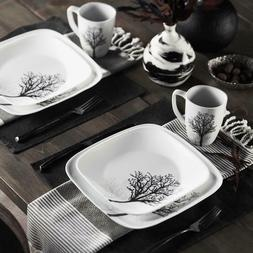 Corelle® Square™ 16pc Dinnerware Set Timber Shadow