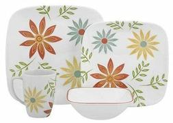 Corelle Square Round 16-Piece Dinnerware Set Happy Days