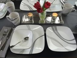 CORELLE Square Urban Arc NEW Dinnerware 1 SALAD PLATE ONLY -